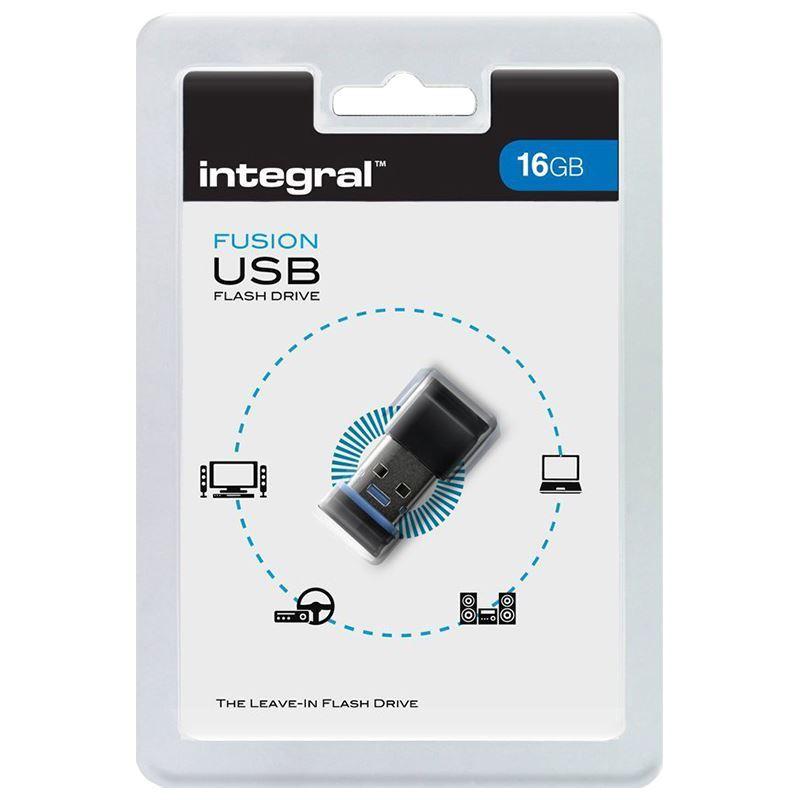 Integral Fusion USB 2.0 Flash Drive - Pendrive USB 2.0 16GB (Blue)