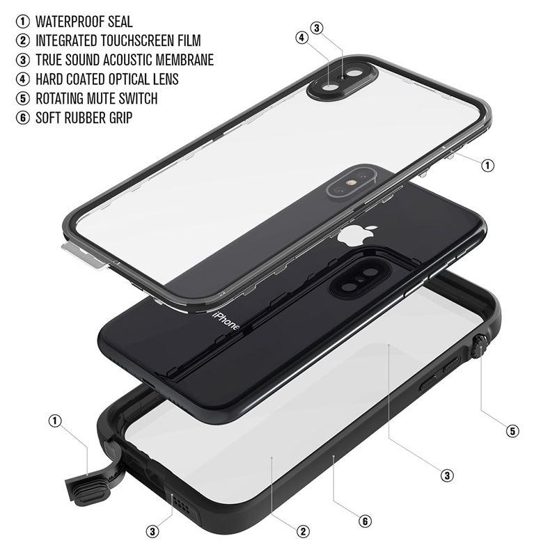 Catalyst Waterproof Case - Etui wodoszczelne (IP-68 do 10 m głębokości) iPhone X (Stealth Black)