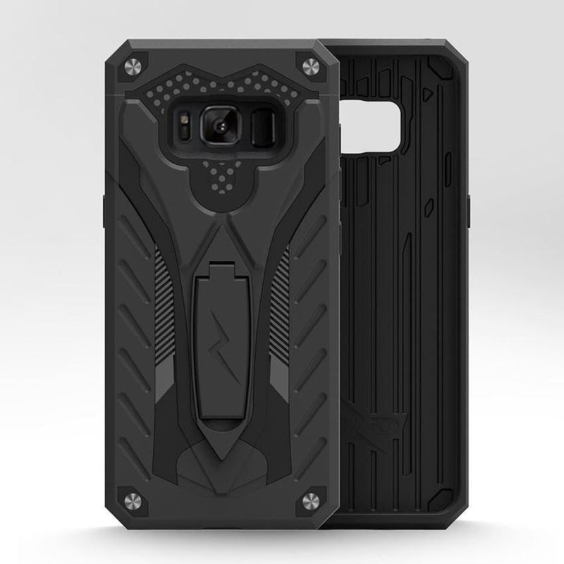 Zizo Static Cover - Pancerne etui Samsung Galaxy S8 Active z podstawką (Black)