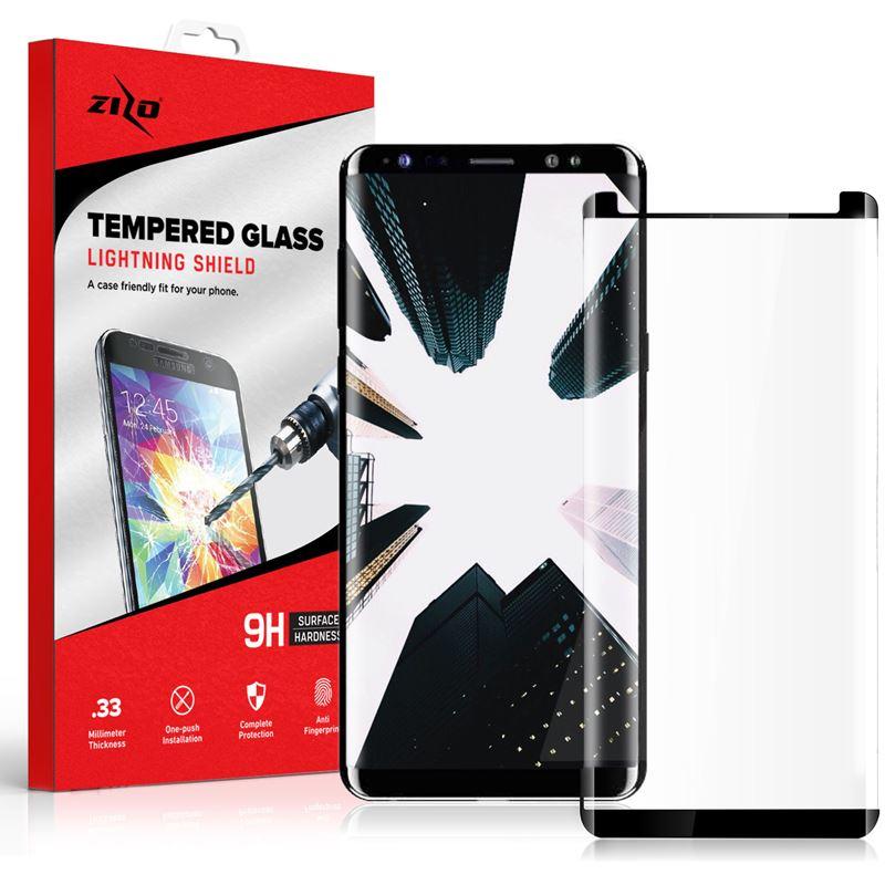 Zizo Full Edge to Edge - Szkło ochronne 9H na cały ekran Samsung Galaxy S9+ (czarna ramka)