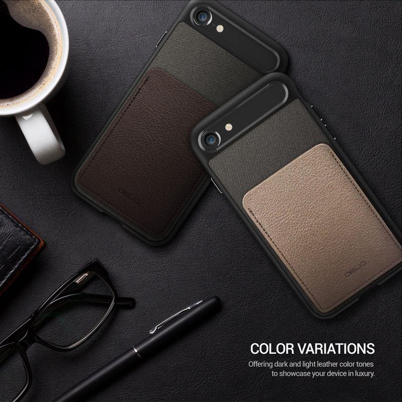 Obliq Flex Wallet - Etui iPhone 8 / 7 z kieszenią na kartę (Espresso)