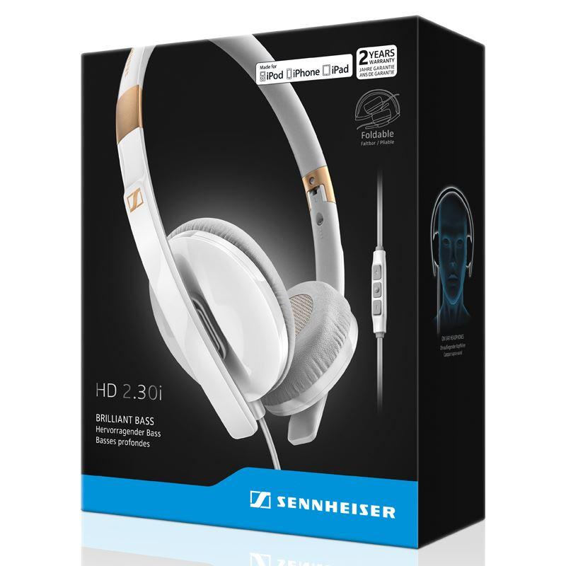 Sennheiser HD 2.30 I White - Zamknięte dynamiczne słuchawki stereofoniczne, MFi (biały)