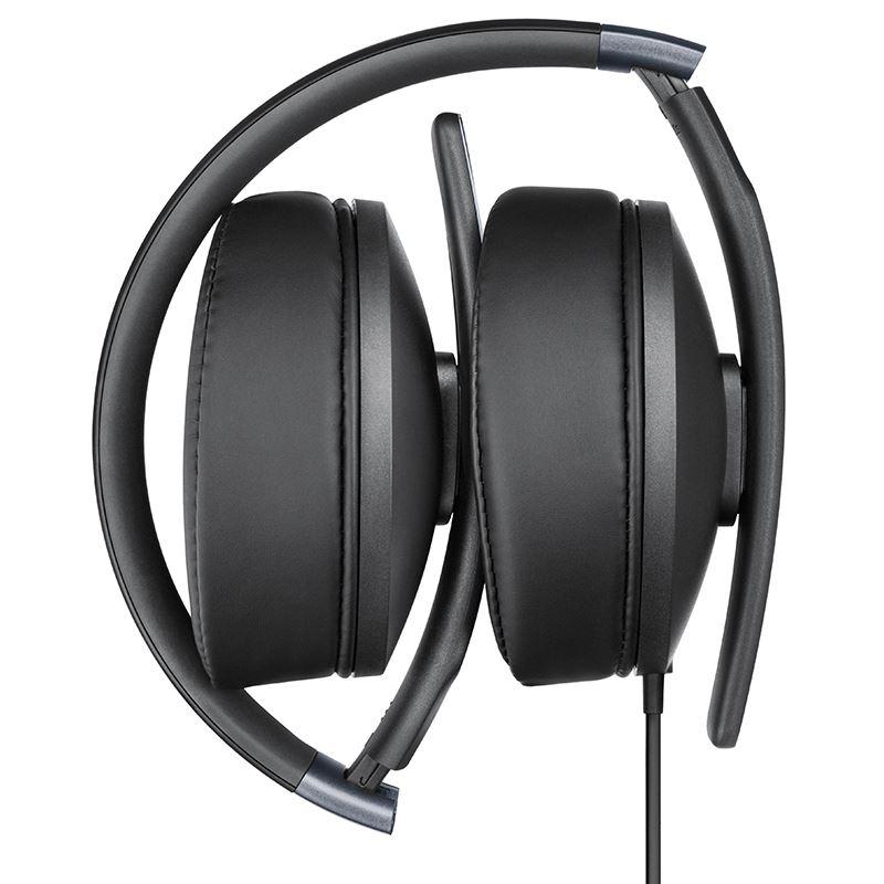 Sennheiser HD 4.20 S - Składane zamknięte dynamiczne słuchawki stereofoniczne (czarny)