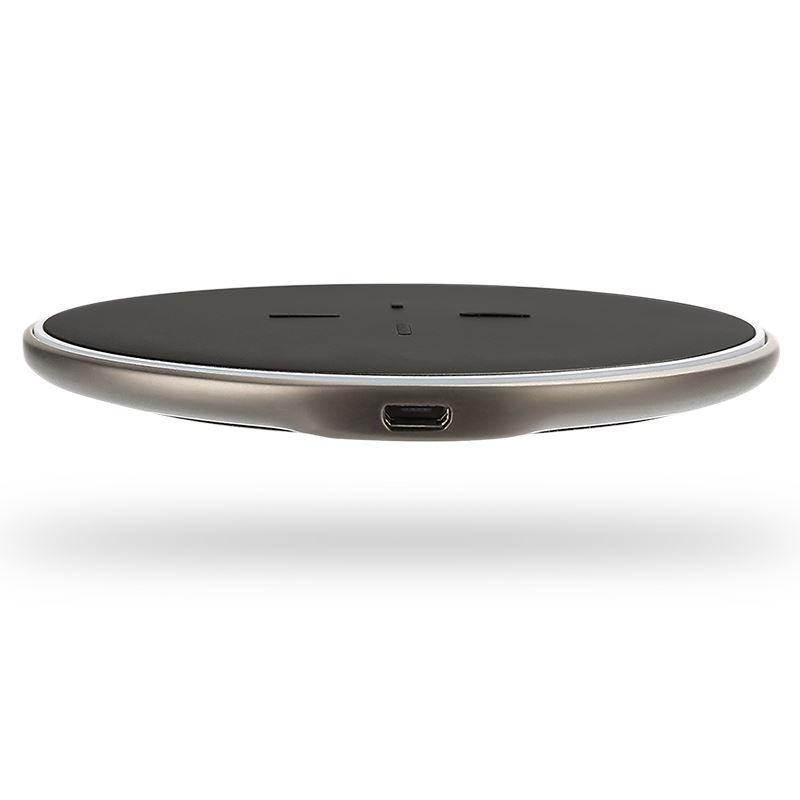 X-Doria Pebble Wireless Charger - Uniwersalna aluminiowa ładowarka indukcyjna, 10W, Qi (czarny)