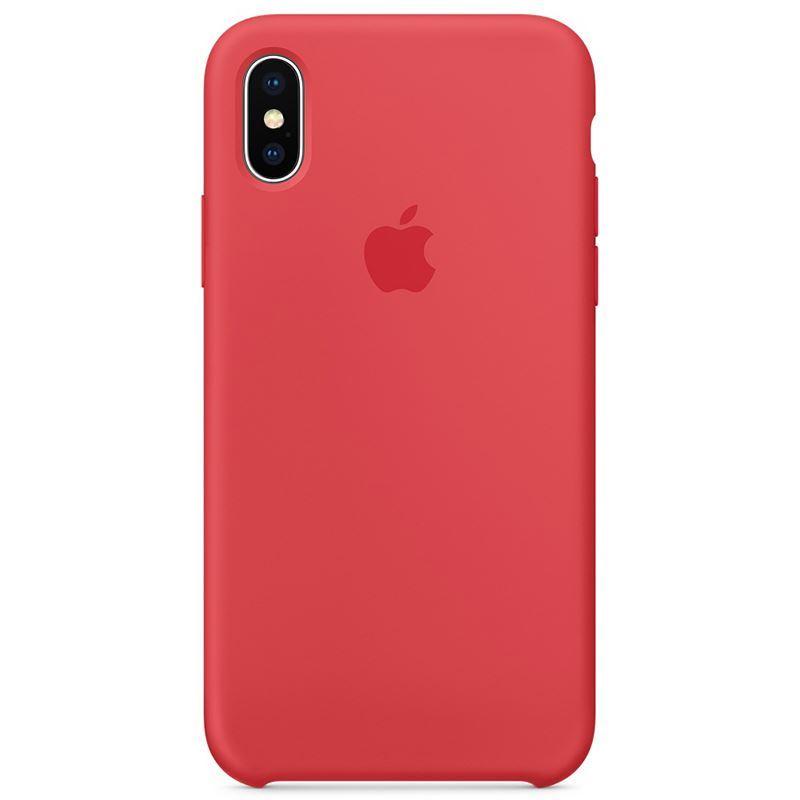 Apple Silicone Case - Silikonowe etui iPhone X (czerwona malina)