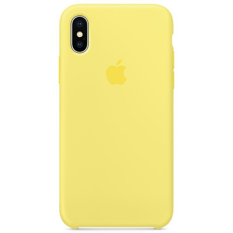Apple Silicone Case - Silikonowe etui iPhone X (lemoniadowy)
