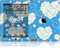 Nexgen Skins - Zestaw skórek na obudowę z efektem 3D iPad 2/3/4 (Hearts and Daisies 3D)