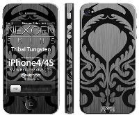 Nexgen Skins - Zestaw skórek na obudowę z efektem 3D iPhone 4 / iPhone 4S (Tribal Tungsten 3D)