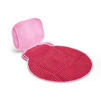 BUILT Diaper Buddy Changing Pad - Neoprenowy składany przewijak (Baby Pink Mini Dots)