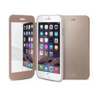 PURO Booklet Mirror Case - Etui iPhone 6s / iPhone 6 z lusterkiem (złoty, przezroczysty tył)
