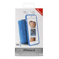 PURO Running Band - Frotka do biegania z etui iPhone 6s / iPhone 6 z key pocket (niebieski)