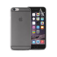 """PURO Ultra Slim """"0.3"""" Cover - Zestaw etui + folia na ekran iPhone 6s / iPhone 6 (czarny przezroczysty)"""