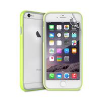 PURO Bumper Cover - Etui iPhone 6s Plus / iPhone 6 Plus z folią na ekran w zestawie (limonkowy)