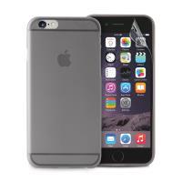 """PURO Ultra Slim """"0.3"""" Cover - Zestaw etui + folia na ekran iPhone 6s Plus / iPhone 6 Plus (czarny przezroczysty)"""