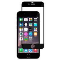 Moshi iVisor XT - Przezroczysta folia ochronna Full Face iPhone 6s / iPhone 6 (czarny)