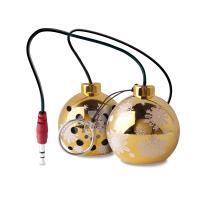 PURO Christmas Ball - Przenośny głośnik (złoty, Xmas sock pack)