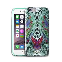 JUST CAVALLI Wings Cover - Etui iPhone 6s / iPhone 6 (zielony)