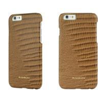 BUSHBUCK LIZARD Leather Case - Etui skórzane do iPhone 6s / iPhone 6 (khaki)