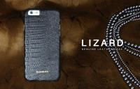 BUSHBUCK LIZARD Leather Case - Etui skórzane do iPhone 6s / iPhone 6 (czarny)