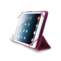 PURO Universal Booklet Easy - Etui tablet 7'' w/Folding back + stand up + Magnetic Closure (różowy)