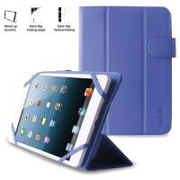 PURO Universal Booklet Easy - Etui tablet 8'' w/Folding back + stand up + Magnetic Closure (granatowy)