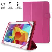PURO Universal Booklet Easy - Etui tablet 10.1'' w/Folding back + stand up + Magnetic Closure (różowy)