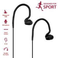PURO Sport Stereo In-ear Earphones - Wodoodporne słuchawki sportowe z okrągłym kablem (czarny)