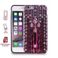 JUST CAVALLI Leo Crystal Cover - Etui iPhone 6s / iPhone 6 (różowy)