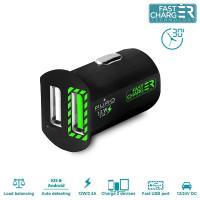 PURO Mini Car Fast Charger - Uniwersalna ładowarka samochodowa 2 x USB, 2.4 A (czarny)