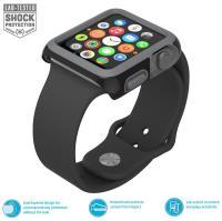 Speck CandyShell Fit - Bumper do Apple Watch 42mm (Black/Slate Grey) zastępuje SPK-A4135