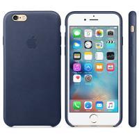 Apple Leather Case - Skórzane etui iPhone 6s / iPhone 6 (nocny błękit)