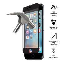 PURO Premium Tempered Glass - Szkło ochronne hartowane na ekran iPhone 6s / iPhone 6 (czarna ramka)