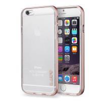 Laut EXOFRAME - Etui iPhone 6s / iPhone 6 z aluminiową ramką z 2 foliami na ekran w zestawie (Rose Gold)