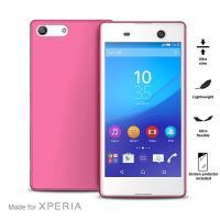 """PURO Ultra Slim """"0.3"""" Cover - Zestaw etui + folia na ekran Xperia M5 (różowy)"""