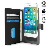 PURO Smart Wallet - Uniwersalne etui z uchwytem do robienia zdjęć z kieszonkami na karty i pieniądze, rozmiar L (czarny)