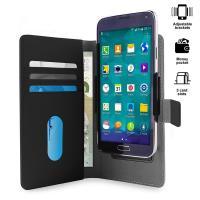 PURO Smart Wallet - Uniwersalne etui z uchwytem do robienia zdjęć z kieszonkami na karty i pieniądze, rozmiar XL (czarny)