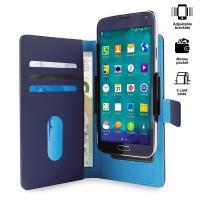 PURO Smart Wallet - Uniwersalne etui z uchwytem do robienia zdjęć z kieszonkami na karty i pieniądze, rozmiar XL (niebieski)