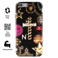 JUST CAVALLI Leo Star Cover - Etui iPhone 6s / iPhone 6 (czarny)