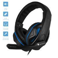 1Life Thunder Blue - Słuchawki stereofoniczne dla graczy z mikrofonem (czarny/niebieski)
