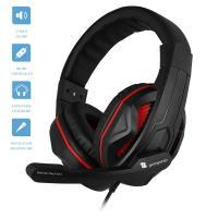 1Life Thunder Red - Słuchawki stereofoniczne dla graczy z mikrofonem (czarny/czerwony)