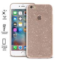 PURO Glitter Shine Cover - Etui iPhone 6s Plus / iPhone 6 Plus (Gold)