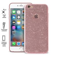 PURO Glitter Shine Cover - Etui iPhone 6s Plus / iPhone 6 Plus (Rose Gold)
