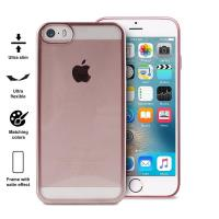 PURO Satin Cover - Etui iPhone SE / iPhone 5s / iPhone 5 (Rose Gold)
