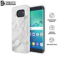 Incipio Design Series Marble - Etui Samsung Galaxy S7 edge (biały/srebrny)