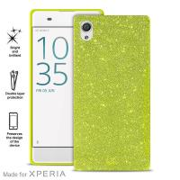 PURO Glitter Shine Cover MFX - Etui Sony Xperia XA (Lime Green)