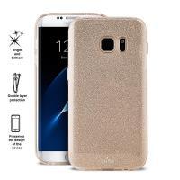 PURO Glitter Shine Cover - Etui Samsung Galaxy S7 (Gold)