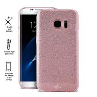 PURO Glitter Shine Cover - Etui Samsung Galaxy S7 (Rose Gold)