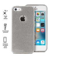 PURO Glitter Shine Cover - Etui iPhone SE / iPhone 5s / iPhone 5 (Silver)