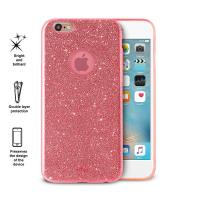PURO Glitter Shine Cover - Etui iPhone 6s / iPhone 6 (Coral)