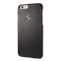 Ferrari Hardcase Perforated Aluminum - Etui aluminiowe iPhone 6s / iPhone 6 (czarny)